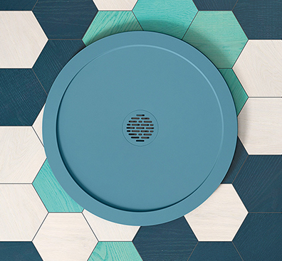 receveur de douche bleu rond select de hidrobox