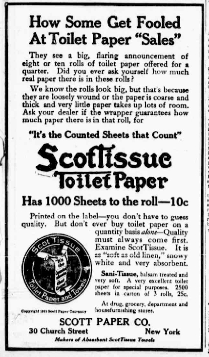pub papier toilette scott paper co