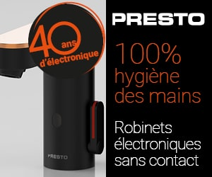 Presto robinets electroniques sans contact