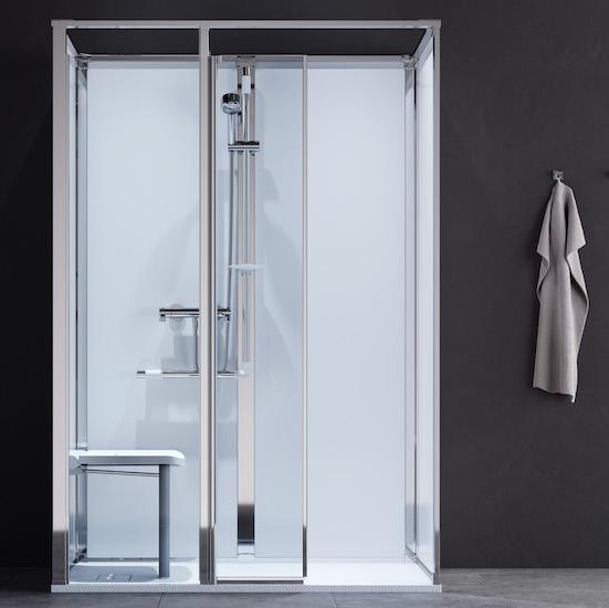cabine de douche Onyx de KWC avec siège