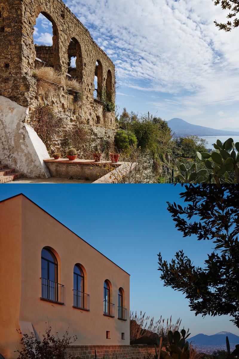 maison avec vue sur la baie de naples avant et après rénovation