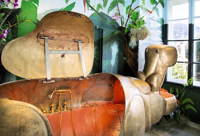 la baignoire hippopotame en bronze de lalanne