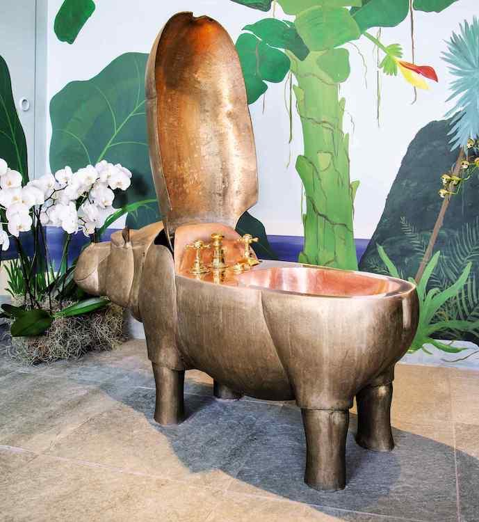 le bidet hippopotame en bronze de lalanne