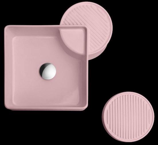vasque carrée rose