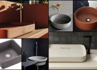 sélection de vasques en béton