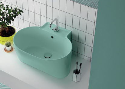 profonde vasque à poser verte
