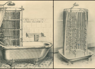 baignoire et douche équipée en hydrothérapie, catalogue Jacob Delafon 1903