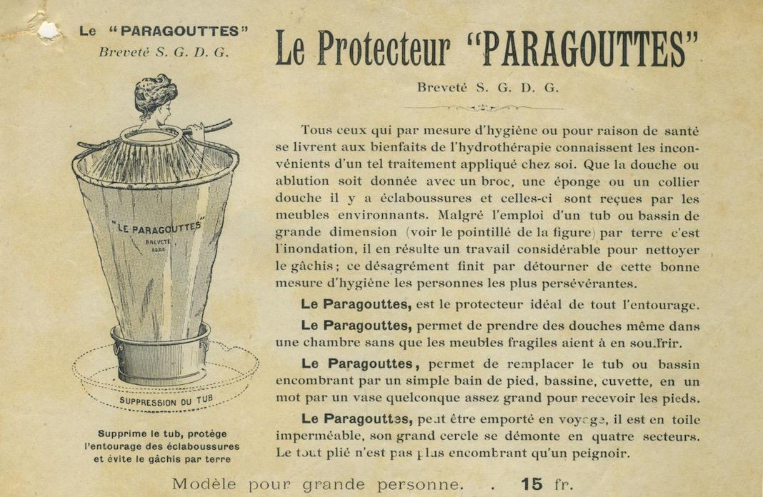 publicité ancienne du paragouttes