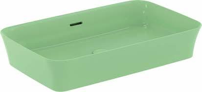 vasque à poser verte rectangulaire