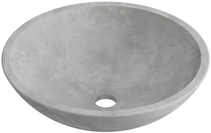 vasque bol en ciment gris
