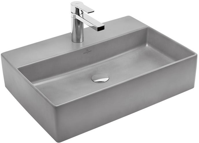 vasque en céramique émaillée façon béton ciré