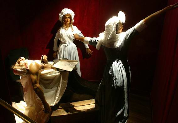 la sècne du meutre de Marat du Musée Grévin
