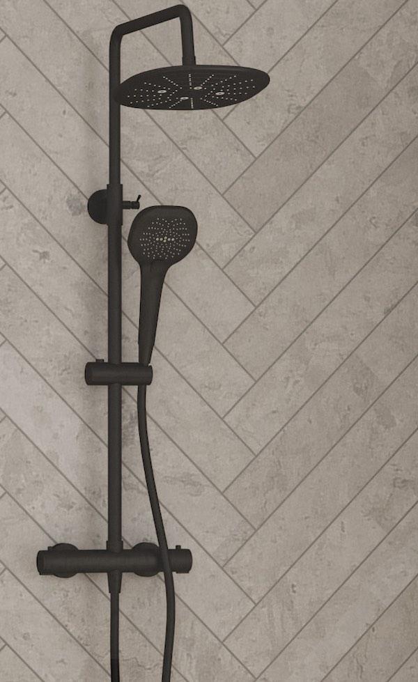 colonne de douche noire kinedo