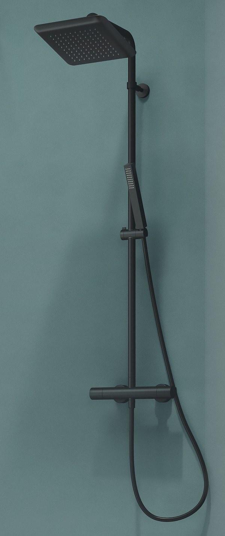 colonne de douche noir mat nobili