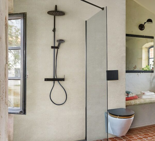 colonne de douche noire wirquin