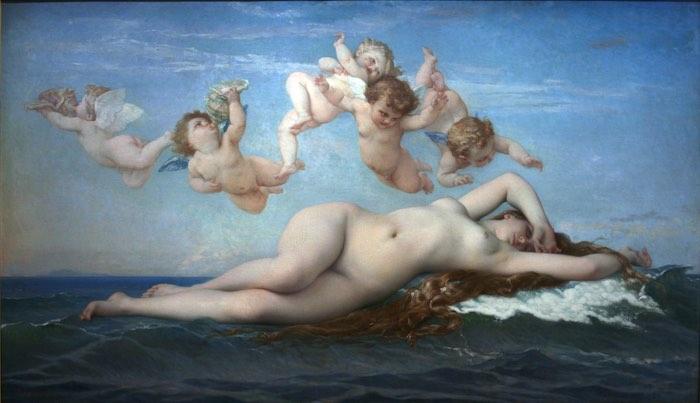 La naissance de Vénus selon Alexandre Cabanel, musée d'Orsay, Paris