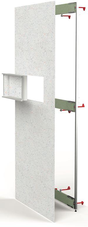 châssis Modulo de Lazer pour intégrer une niche dans la douche