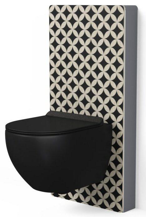 panneau sanitaire WC Elo de Masalledebain.com avec façade décorée