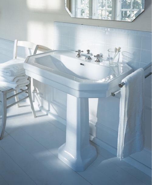 lavabo colonne rétro blanc Duravit