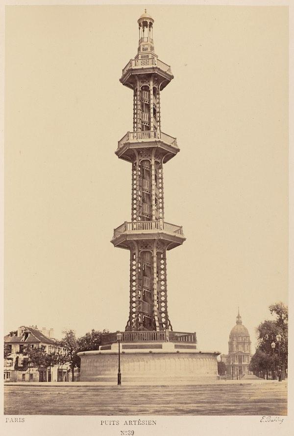 vieille photo d'un puits artésiens Paris