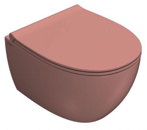 WC suspendu rose