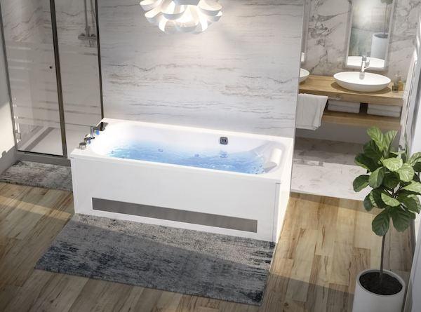 baignoire balnéo dans une salle de bains