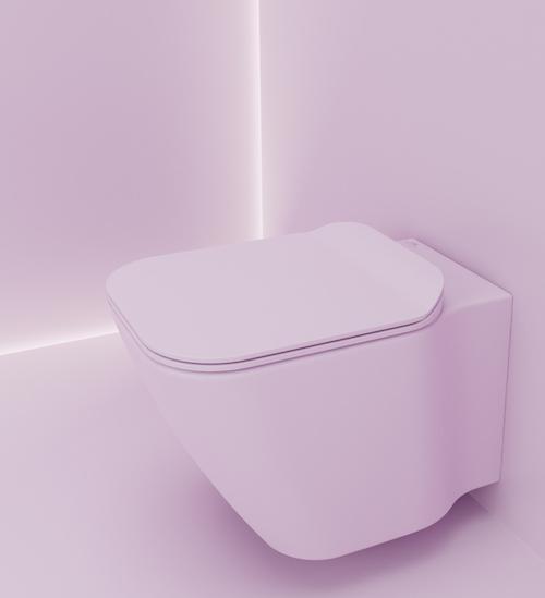 WC suspendu rose Porcelanosa