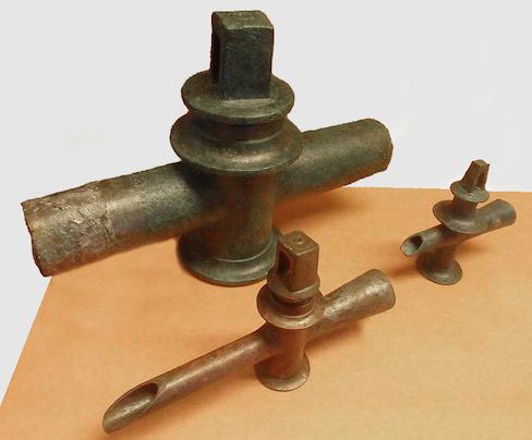 canalisations et robinets de l'époque romaine
