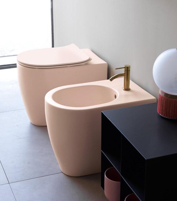 WC à poser rose Scarabeo