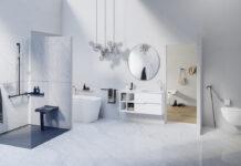 salle de bains avec accessoires PMR Pellet